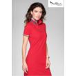 DRESS UP Női galléros pólóruha piros színben