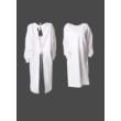 Köpeny hátulkötős, PE mosható/fertőtleníthető anyagból