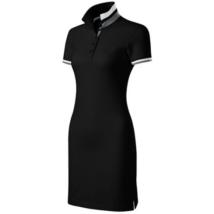 DRESS UP Női galléros pólóruha fekete színben