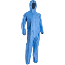 Többször, akár 50X használható, mosható, fertőtleníthető kapucnis védőoverall