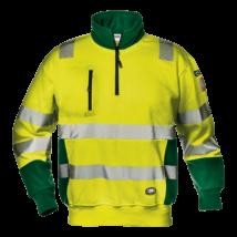 Sárga-zöld jól láthatósági pulóver