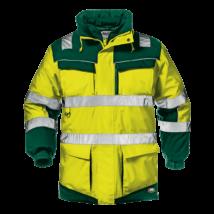 Sárga-zöld 4 az 1-ben jól láthatósági kabát