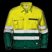 Sárga-zöld jól láthatósági kabát