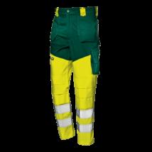 Sárga-zöld jól láthatósági deréknadrág sok zsebbel