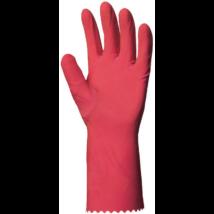 HTG rózsaszín gumikesztyű 30cm-0,4mm bolyhozott belsővel (10 pár)