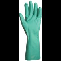 Nitril zöld vegyszerálló érdesített kesztyű 32cm-0,4mm (10 pár)
