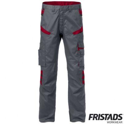 FUSION 2554 STFP női derekas nadrág szürke / piros