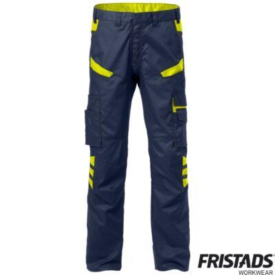 FUSION 2554 STFP női derekas nadrág matrózkék / Hi-Vis sárga