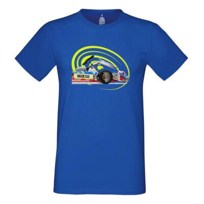 SPARCO GO Környakú póló, kék