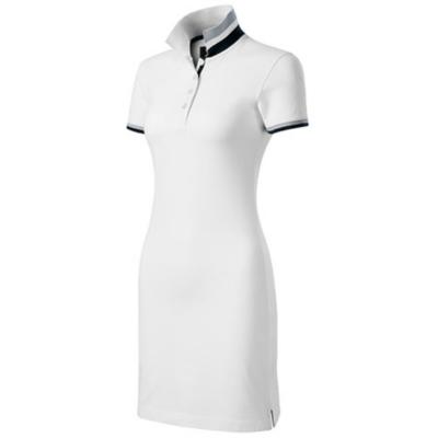 DRESS UP Női galléros pólóruha fehér színben