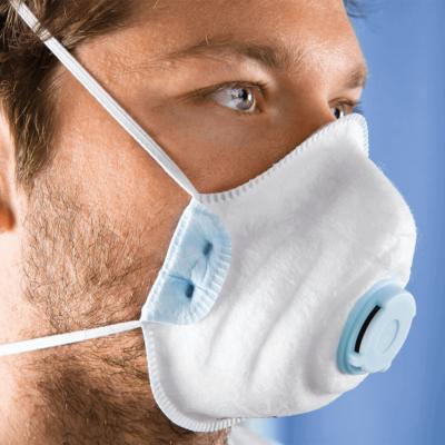 PREMIUM FFP2 NR D védőmaszk légzést segítő szűrő szeleppel