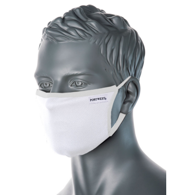 Háromrétegű anti-mikrobiális arcmaszk, FEHÉR színben