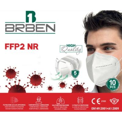 BRBEN FFP2 NR védőmaszk légzést segítő szelep nélkül