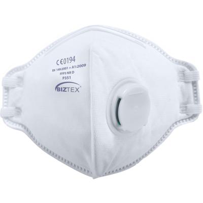 BIZTEX FFP3 NR DOLOMITE, félbehajtható szelepes védőmaszk