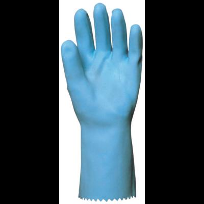 Mártott kék saválló gumikesztyű 30 cm-1,3 mm pamut belsővel