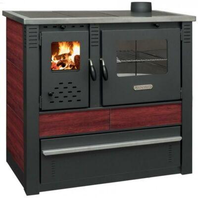 PANNONIA vegyes tüzelésű kályha, sütő, főző  /piros/