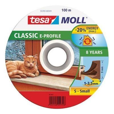 Tesamoll® Ajtó- és ablaktömítő szalag, E profil, Barna 100m/9mm