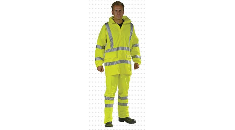 935a2f13775 Lángálló és antisztatikus jó láthatósági kabát 170g
