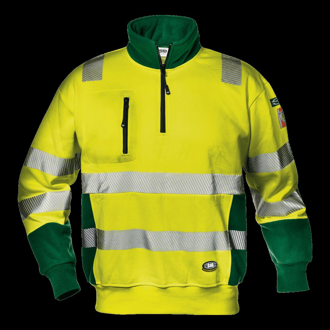 4bf04852188 Sárga-zöld jól láthatósági pulóver